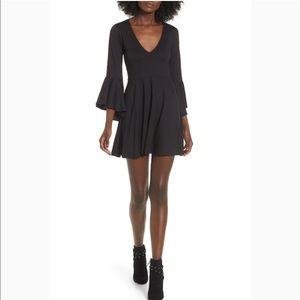 NWT-cute black dress by socialite w/bell sleeves